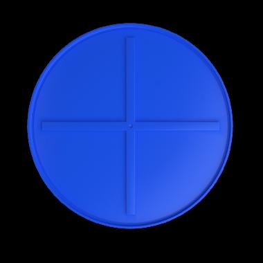 1000 liters brine tank models (blue)