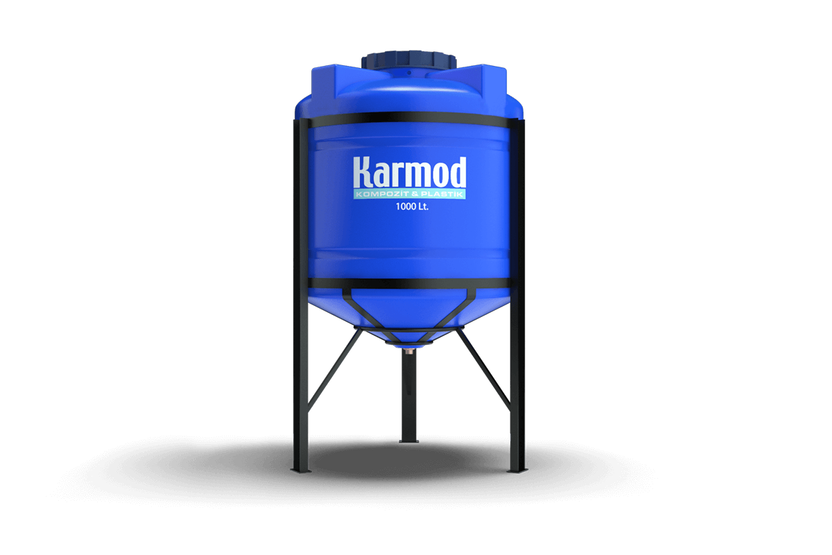 1000 liters cone bottom tank (blue)