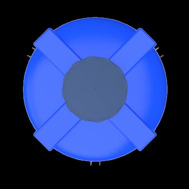1000 liters cone bottom tank models (blue)