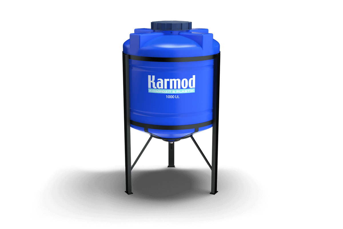 1000 liters cone bottom tank price (blue)