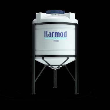 1000 liters cone bottom tank (white)