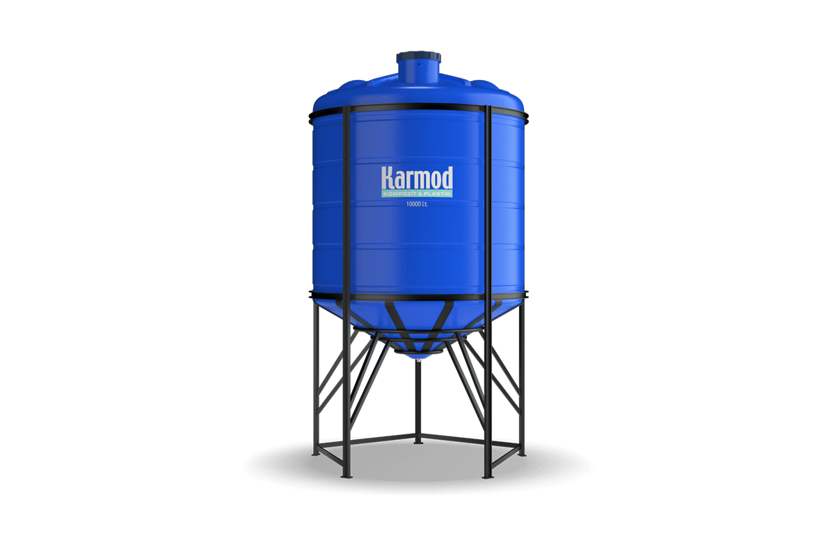 10000 liters cone bottom tank (blue)