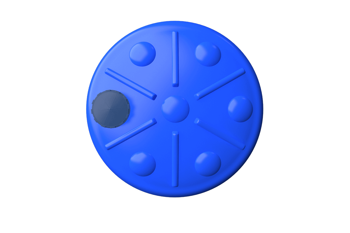 10000 liters cone bottom tank models (blue)