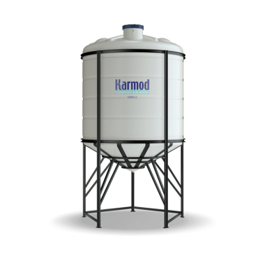 10000 liters cone bottom tank (white)
