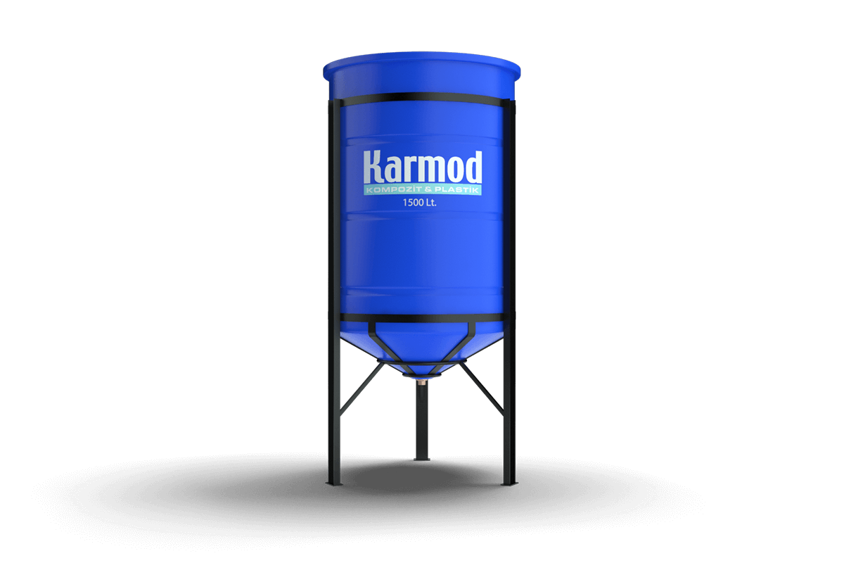 1500 liters cone bottom tank (blue)