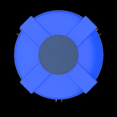 1500 liters cone bottom tank models (blue)