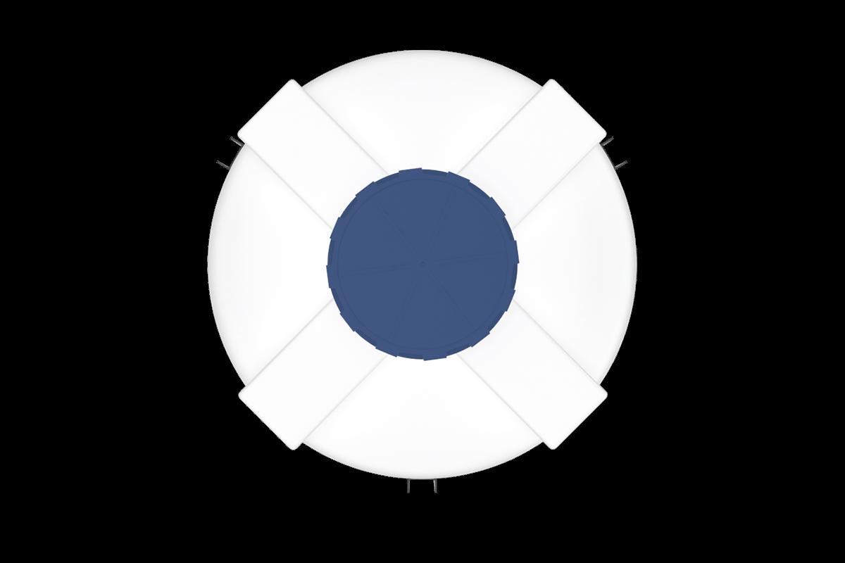 1500 liters cone bottom tank models (white)