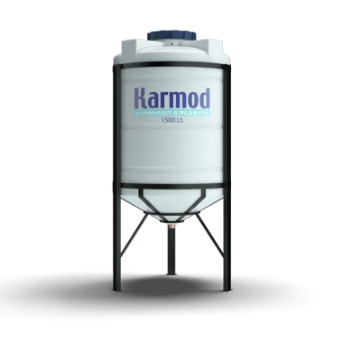 1500 liters cone bottom tank (white)