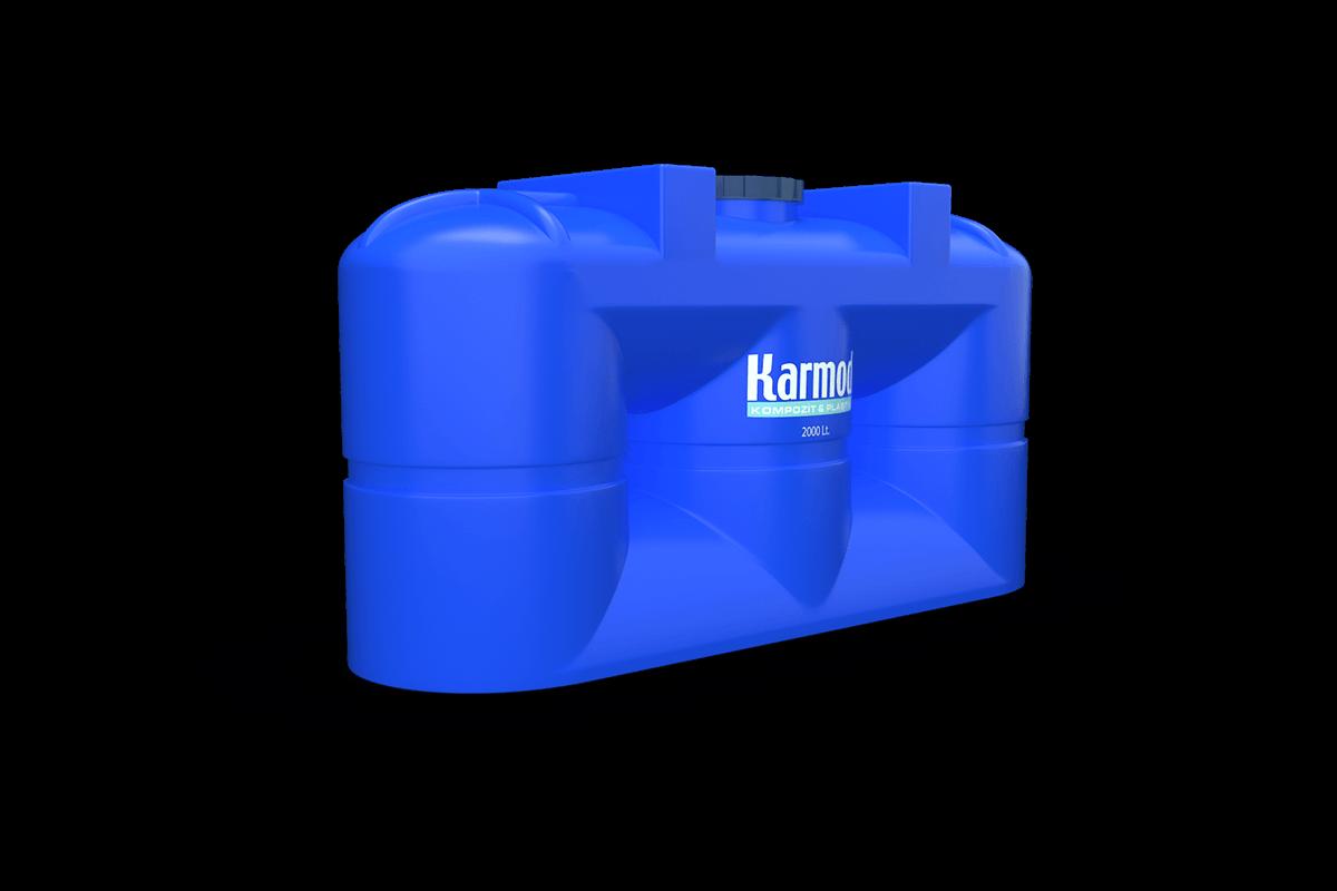 2000 liters blue plastic above ground tanks models