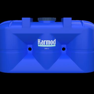 2000 liters blue plastic above ground tanks