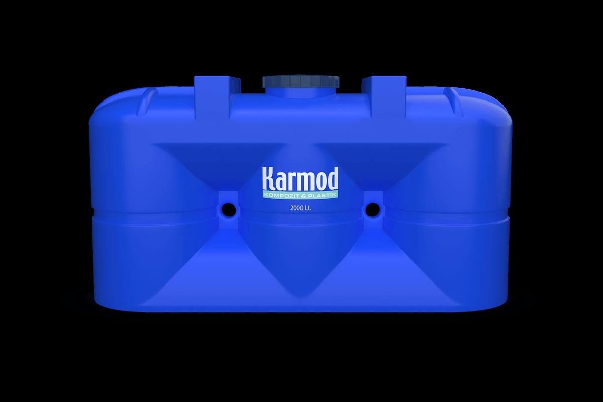 2000 liters blue plastic underground tanks