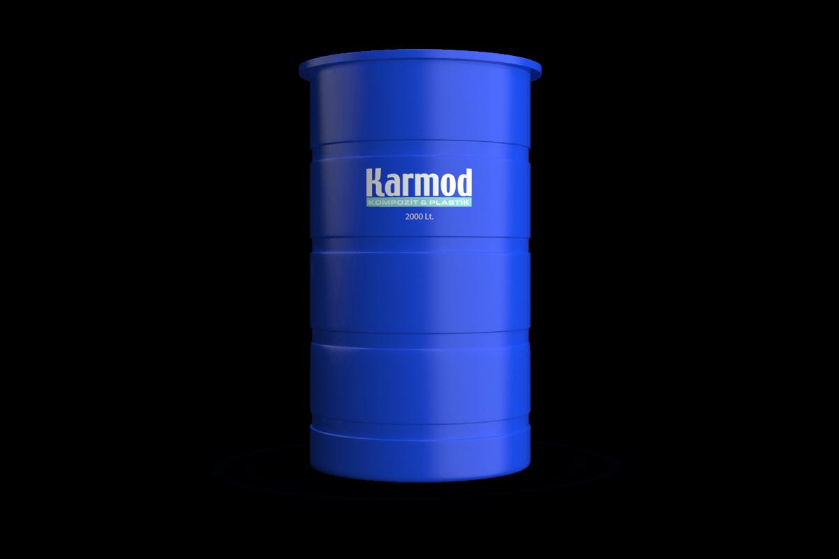 2000 liters brine tank (blue)