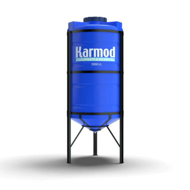 2000 liters cone bottom tank (blue)