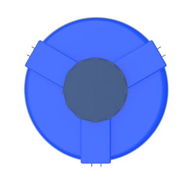 2000 liters cone bottom tank models (blue)