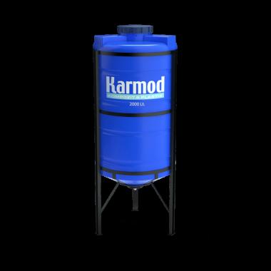 2000 liters cone bottom tank price (blue)