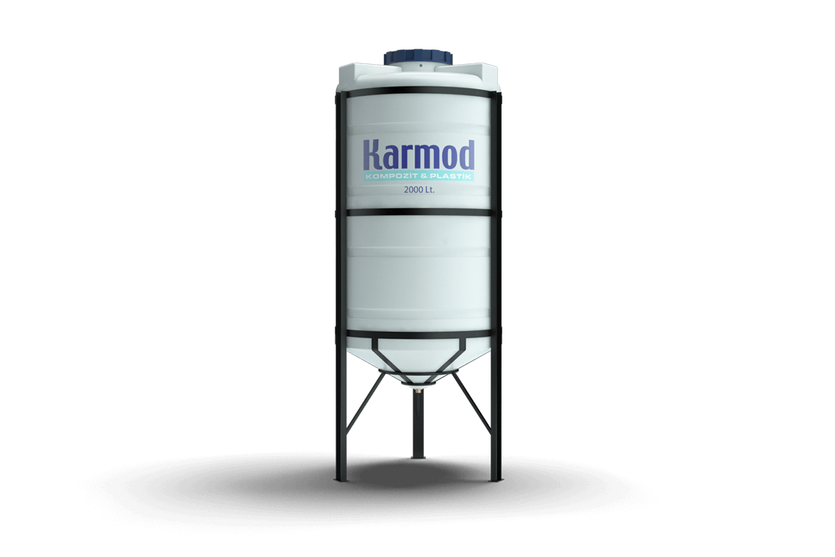 2000 liters cone bottom tank (white)