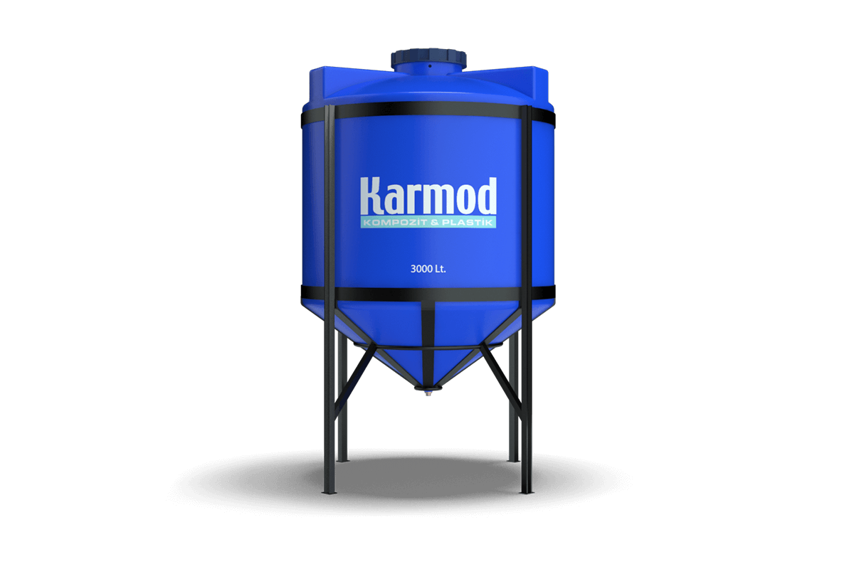 3000 liters cone bottom tank (blue)