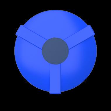 3000 liters cone bottom tank models (blue)