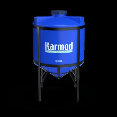 3000 liters cone bottom tank price (blue)
