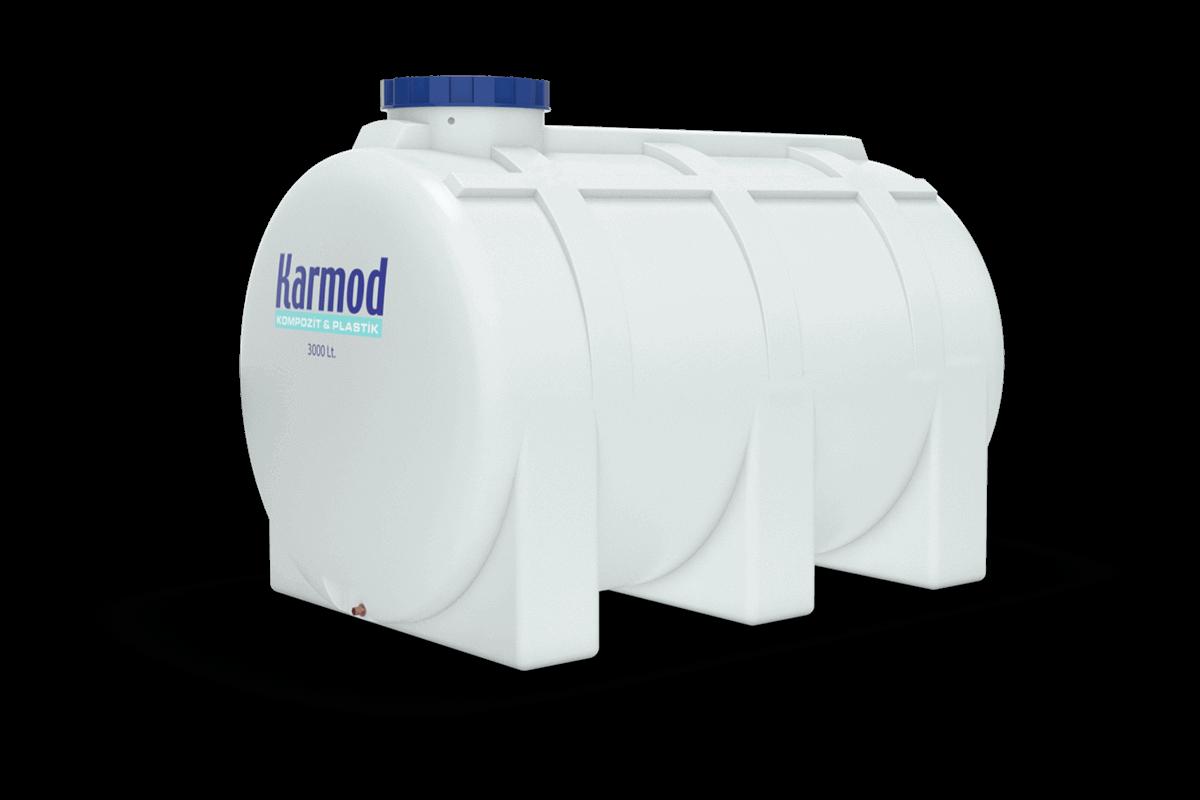 3000 liters horizontal water tank
