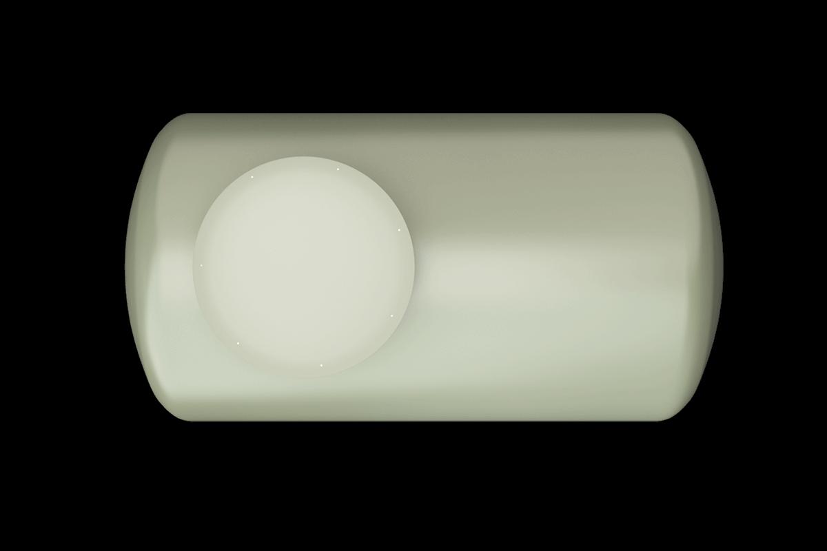 400 liters horizontal frp tank