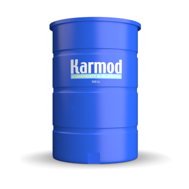 500 liters brine tank (blue)