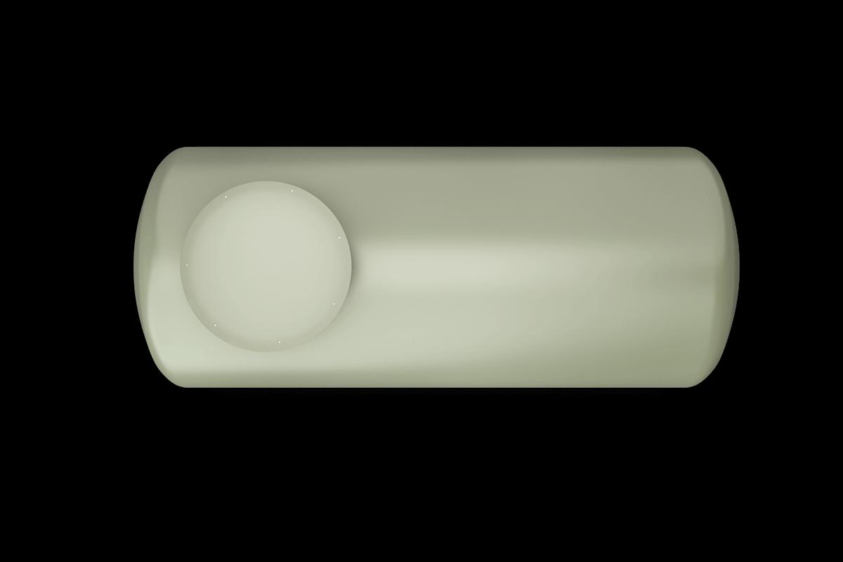 500 liters horizontal frp tank