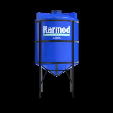 5000 liters cone bottom tank (blue)