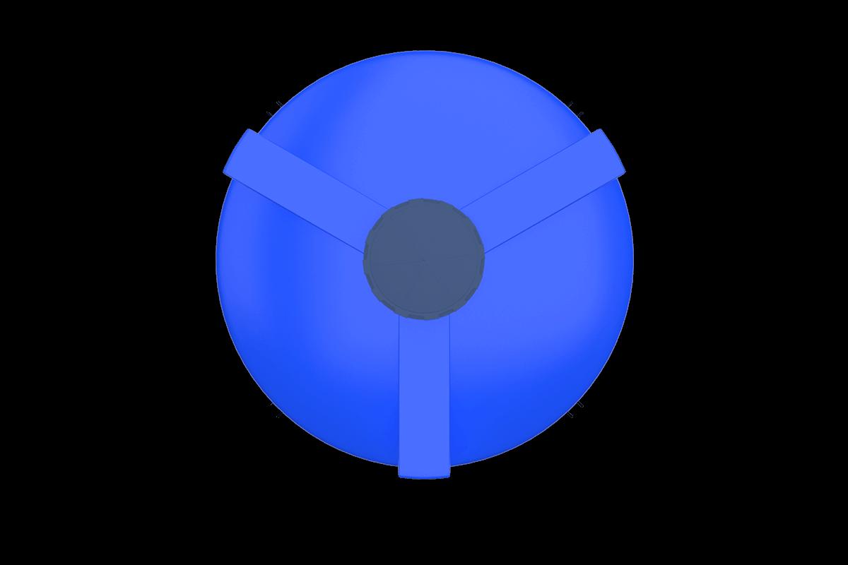 5000 liters cone bottom tank models (blue)