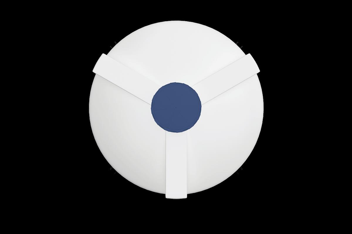 5000 liters cone bottom tank models (white)