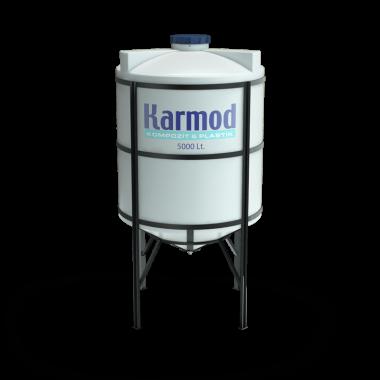 5000 liters cone bottom tank price (white)