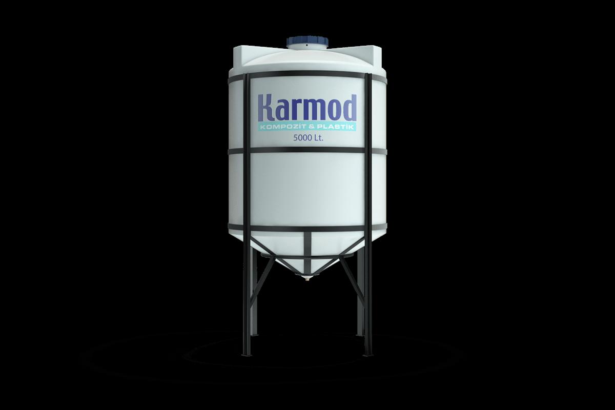 5000 liters cone bottom tank (white)
