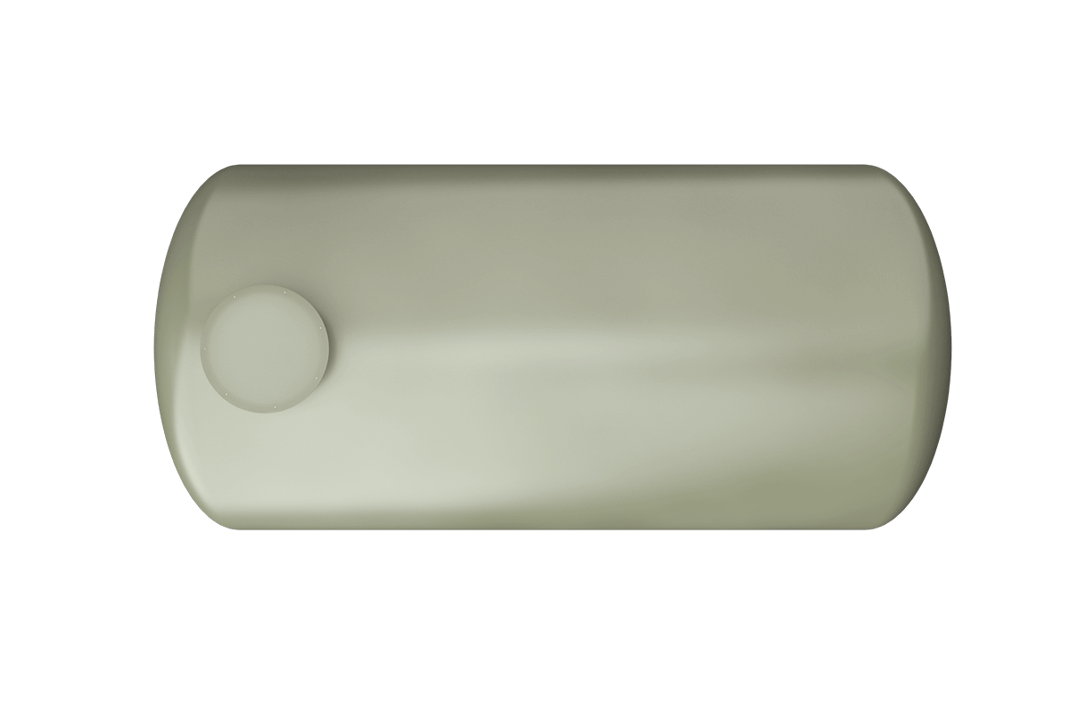 7000 liters horizontal frp tank