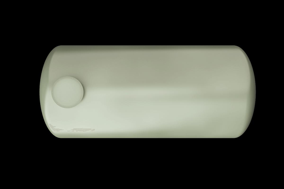 7500 liters horizontal frp tank