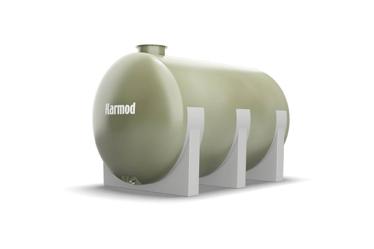 Fiberglass water tank 9000 liters