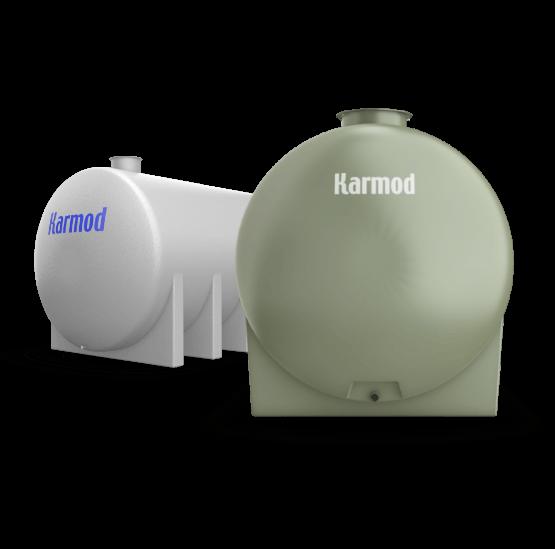 Horizontal fiberglass storage tanks
