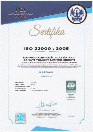 Karmod Plastic ISO 22000 2005