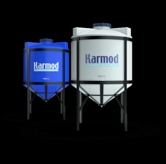 Polyethylene silo tanks